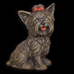 Kutya kerti figura - barna yorki